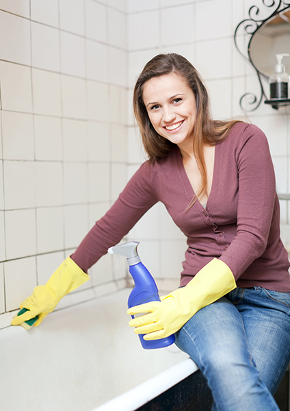 Tile and grout cleaning is time-consuming and difficult.