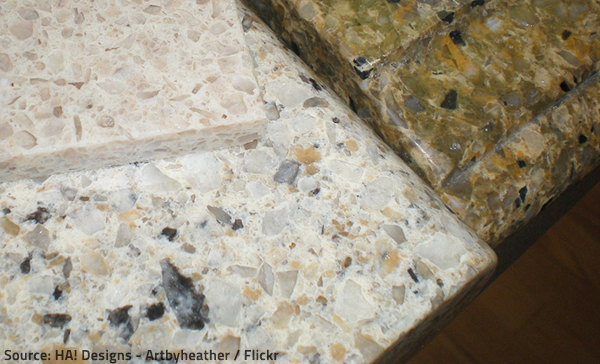 Modern quartz color options are virtually unlimited.