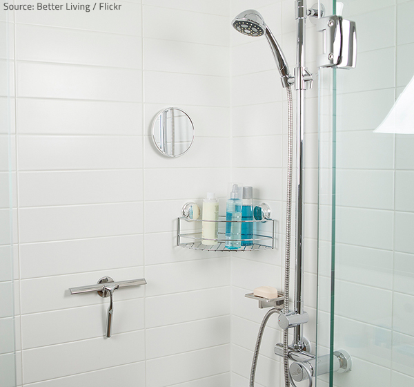 Keep the tiles dry to prevent mold in shower grout.