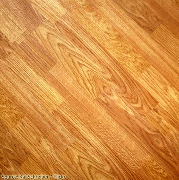 Floor tile that looks like wood should be laid in a random pattern.