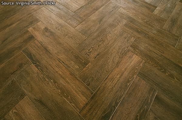 Faux wood tile looks like genuine wood.