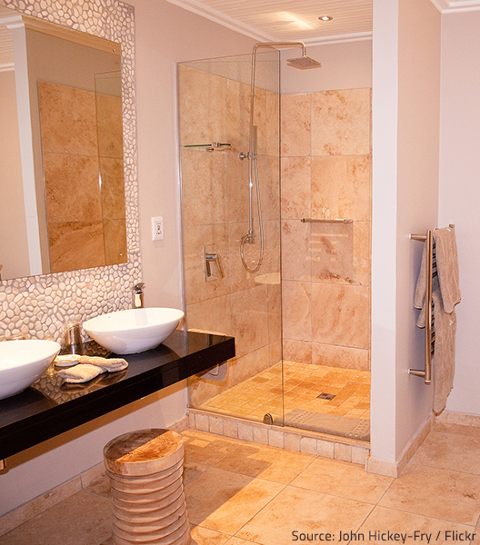 Modern showers provide comfort and increase the value of a home.