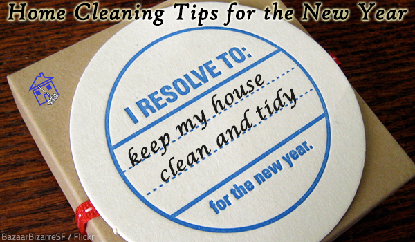 New year home cleaning tips.