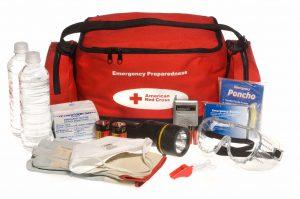 "Emergency Preparedness ""ready to go"" kit."