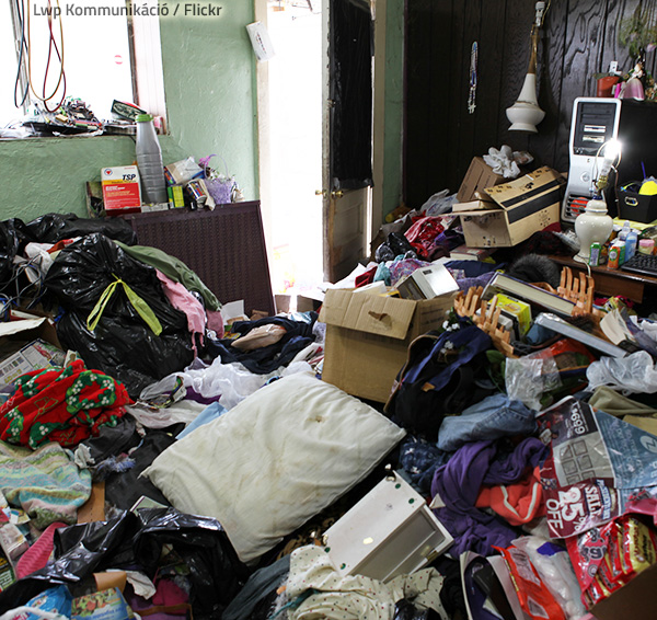Hoarding poses great fire hazards.