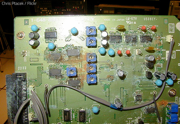 Flood damaged electronics has to be treated very carefully.