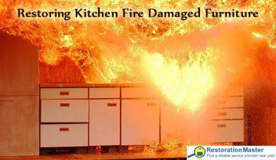 Restoring Kitchen Fire Damaged Furniture