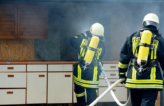 Safety should be your primary concern after a fire.