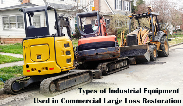 SRMs use different types of industrial equipment for effective large loss restoration.