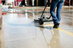 Duraclean Technicians Performing Commercial Restoration in Roswell, GA