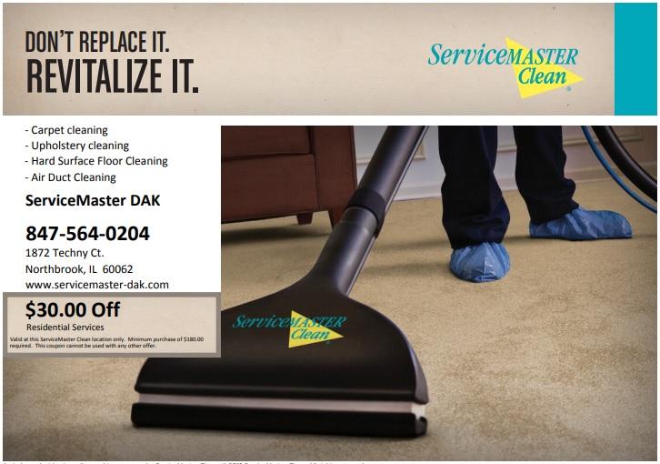 ServiceMaster DAK - Carpet Cleaning Coupon