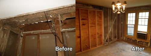 Mold remediation before and after in Frederick MD