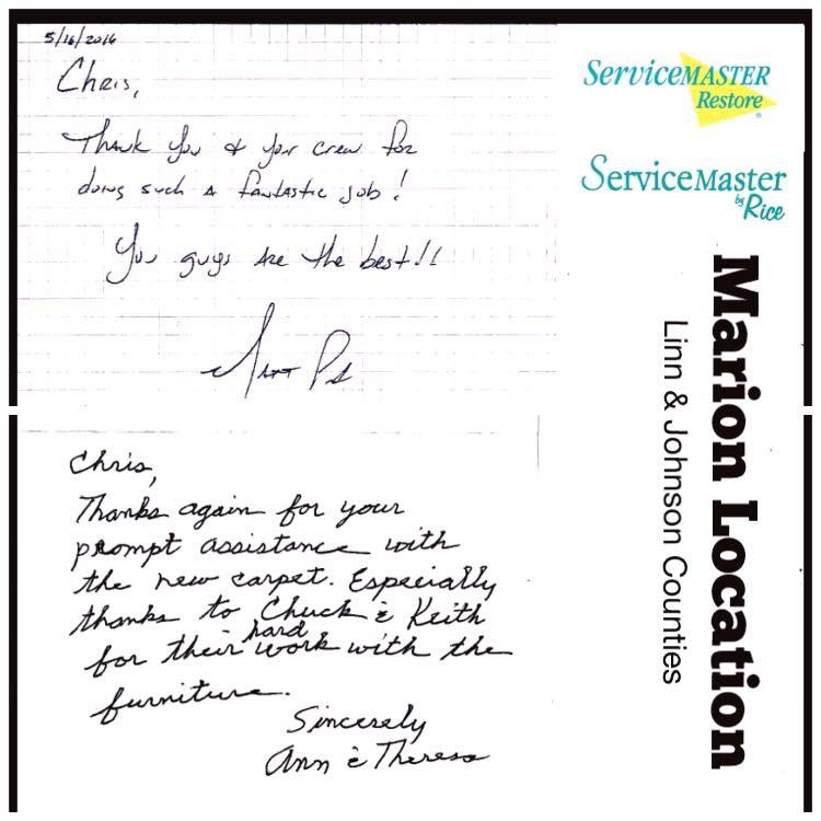 Servicemaster By Rice Testimonials
