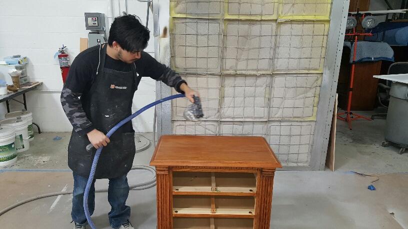 Furniture Medic team repairing wood furniture in West Chicago IL