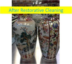 Vase after restoration cleaning in Portland OR