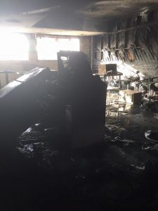 Fire Damage in House