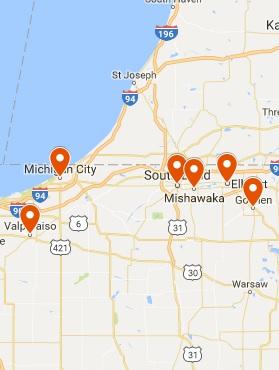 ServiceMaster by Monroe Restoration Map