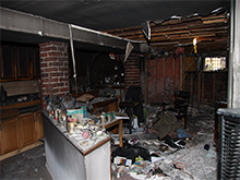 Fire Damage before cleanup