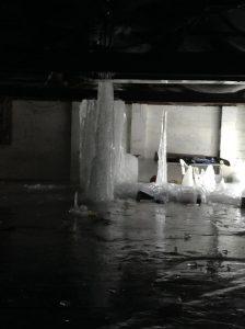 Frozen Water in Basement
