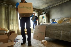 Fire Damage restoration and pack-out from ServiceMaster in Stoneham, MA