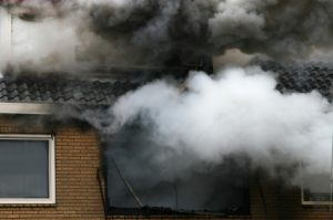 smoke from a house