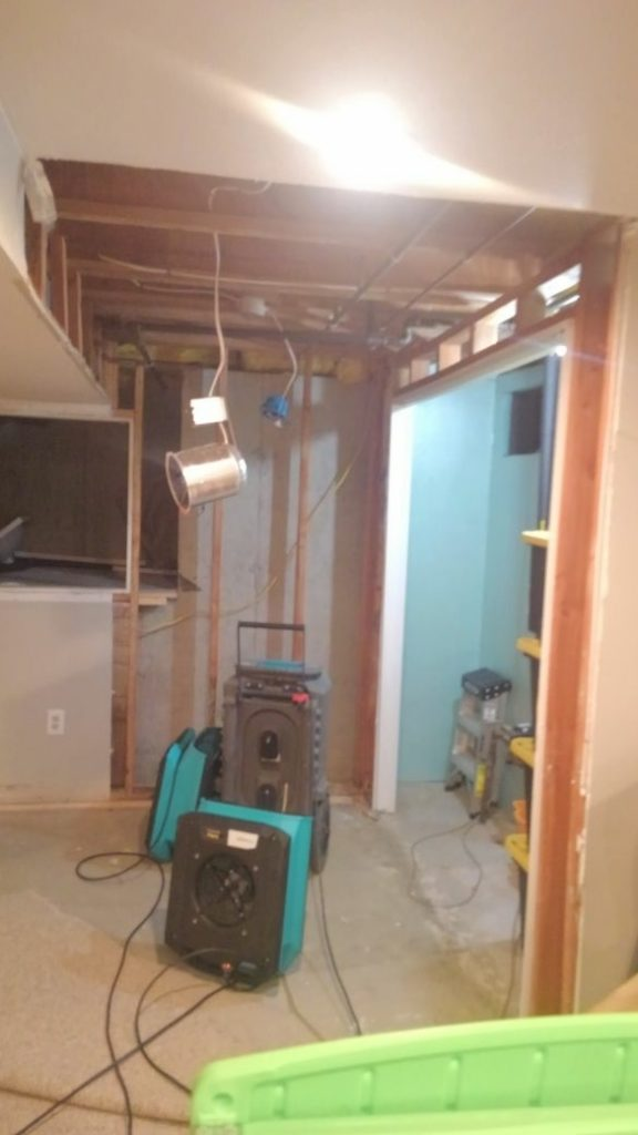 Sewer Water Damage in Basement