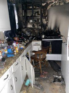 Kitchen Fire Damage in Putnam CT