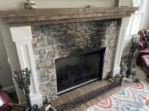 Soot Puffback on Fireplace