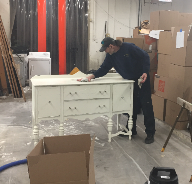 Cleaning White Dresser - Content Cleaning