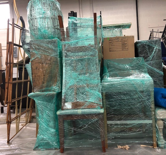Wrapped Chairs - Content Cleaning