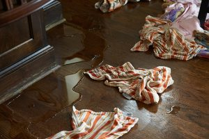 Water Damage in kitchen Woodlands TX