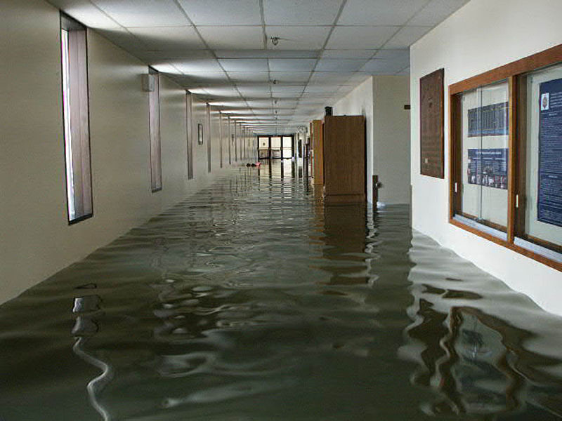 Flood damage in the US Naval Academy