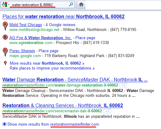 Google SERP RMF Listings