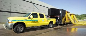 Water damage removal and restoration services being done by ServiceMaster in Cambridge MA
