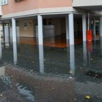 Inundation of lake Maggiore at Locarno on Switzerland