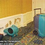 Mold removal and remediation with fans and humidifiers in Stoneham, MA by ServiceMaster by Disaster Associates.