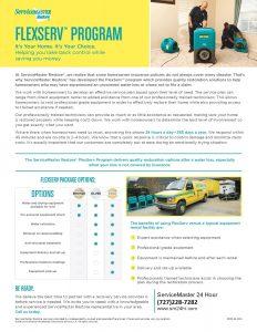 DIY Euipment Rental - FlexServ Homeowner Brochure - Largo FL