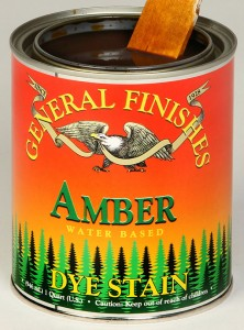Water Base Dye Stain Amber General Finishes