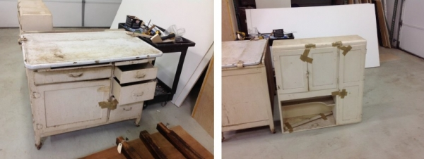Exceptionnel Furniture Refinishing Hoosier Cabinet Before In West Chicago