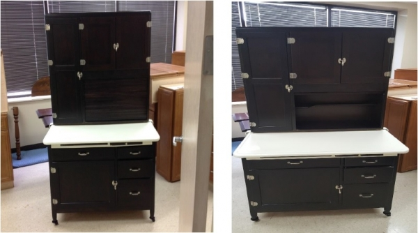 furniture restoration hoosier cabinet before in west chicago and carol