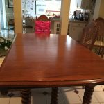 wooden table and chairs restoration - before in West-Chicago-and-Carol-Stream-IL