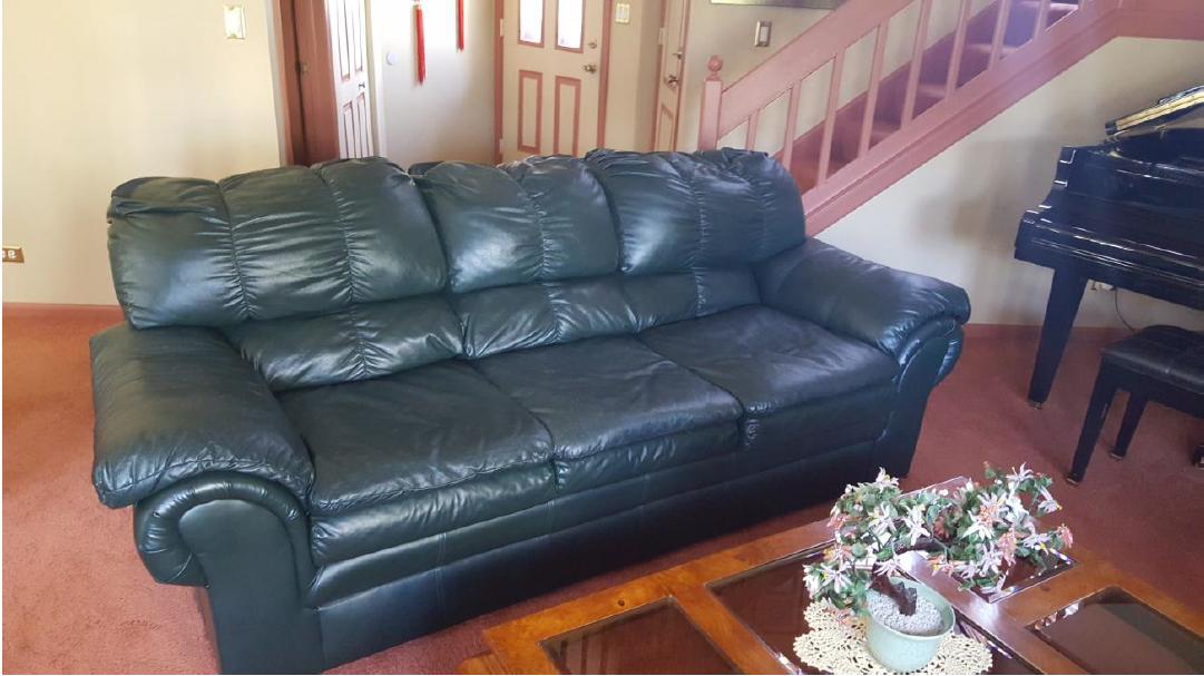 leather furniture before restoration