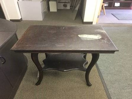 Wood Table Before Restoration In Highland Park IL Part 68