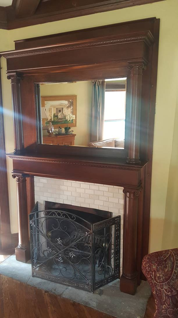 After Wood Mantel Restoration in Carol Stream, IL