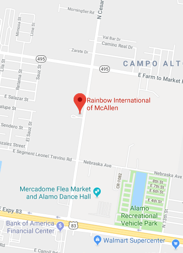 Rainbow International of McAllen Map