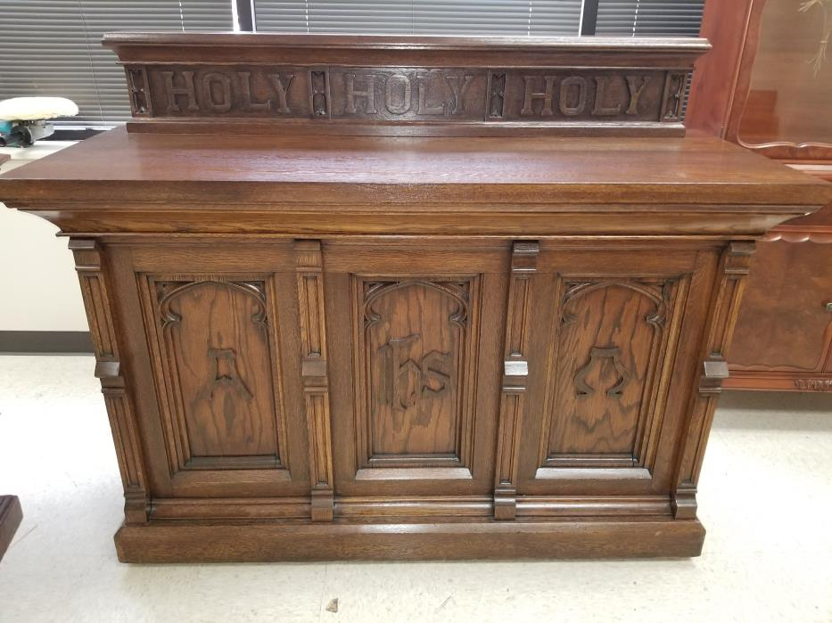 Vintage Church Furniture - After Restoration in Wheaton, IL