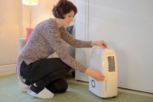 Lady-with-Dehumidifier
