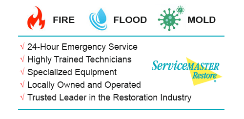 Water Damage Cleanup Fall Creek and Humble TX